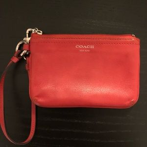 Coach wristlet/small wallet with strap